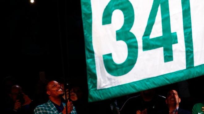 Boston Celtics, Paul Pierce'ın formasını emekli etti