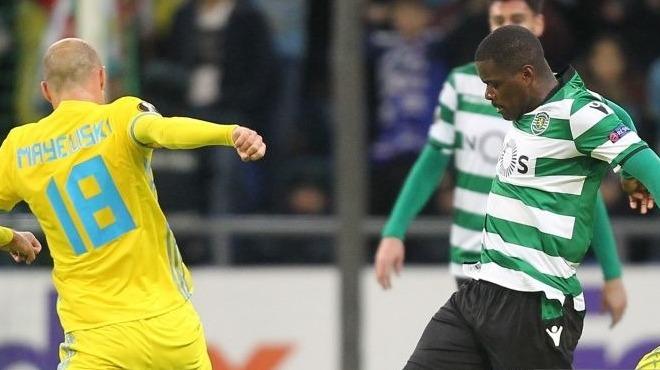 Sporting Astana'ya 3 attı, avantaj yakaladı!