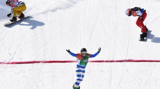 Kadınlar snowboard krosta altın madalya Michela Moioli'nin