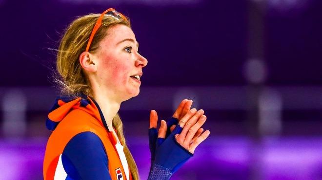 Sürat pateninde Hollandalı Esmee Visser altın madalya kazandı
