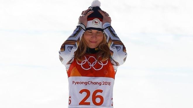 Super-G yarışında Ester Ledecka altın madalya kazandı