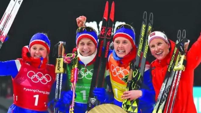 Bayrak yarışında Norveç altın madalya kazandı