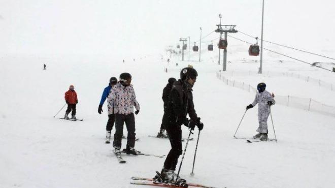 Erciyes'te kar sezonu uzadı!