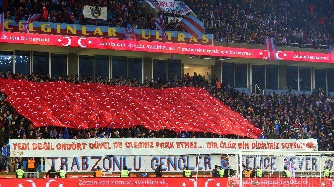 Trabzonsporlu taraftarlar, Beşiktaş maçında takımlarını yalnız bırakmadı