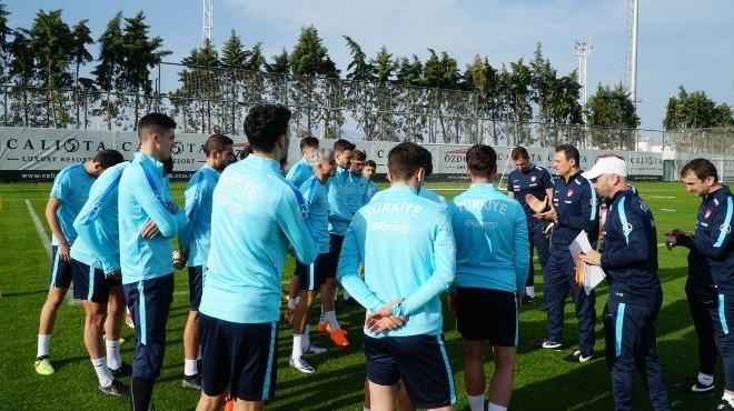 Ümit Milli Futbol Takımı İsveç maçı hazırlıklarına başladı