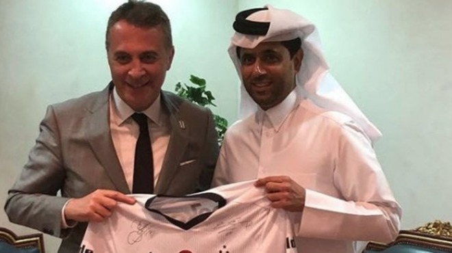 Fikret Orman, PSG başkanı Nasser Al-Khelaifi'yle görüştü