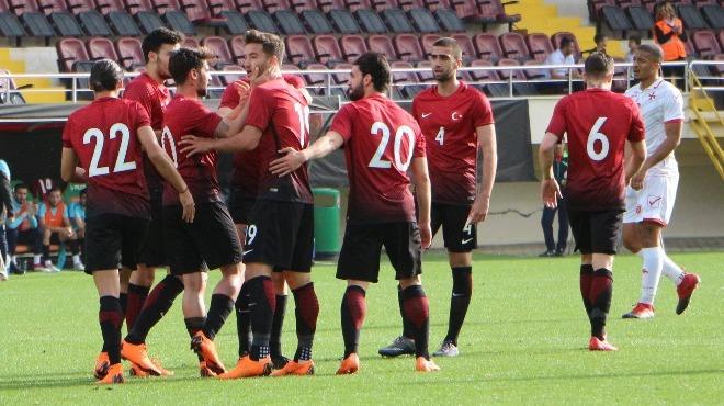 Ümit Milli Takımımız Malta'yı 4 golle geçti