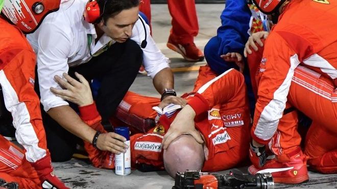 Formula 1'de talihsiz kaza! Pitten çıkarken...