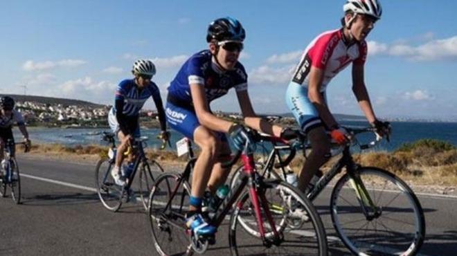 Marmaris'te bisiklet yarışı heyecanı