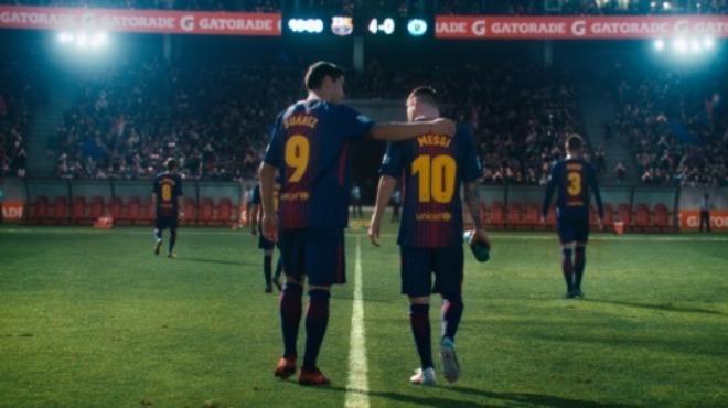 Video - Messi ve Suarez reklam filminde rakip oldular