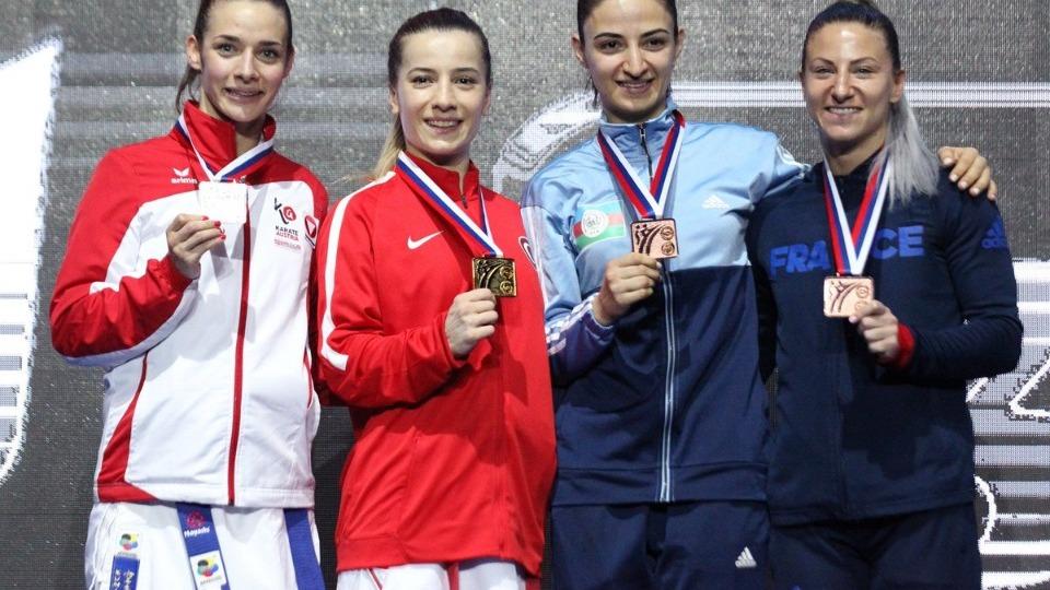 Avrupa Karate Şampiyonası'nun 3. gününde 2 altın, 1 gümüş!