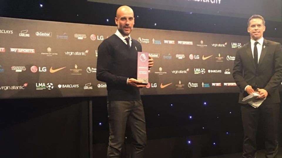 Premier League'de yılın teknik direktörü Guardiola