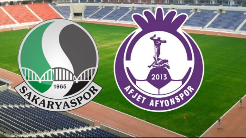 Sakaryaspor ile Afyonspor Spor Toto 1. Lig'e yükselmek için mücadele edecek!