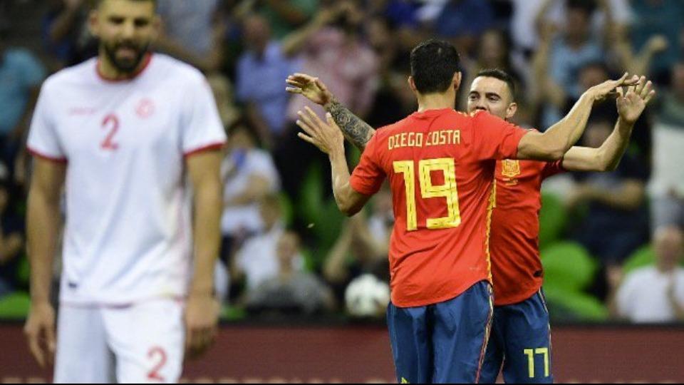 İspanya hazırlık maçında Tunus'u mağlup etti