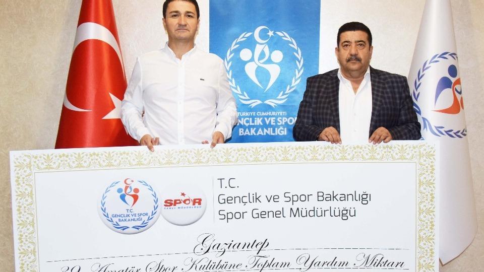 Amatör spor kulüplerine 232 bin TL destek