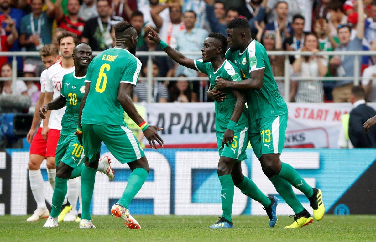 Senegal ile Kolombiya, ilk resmi maçlarında