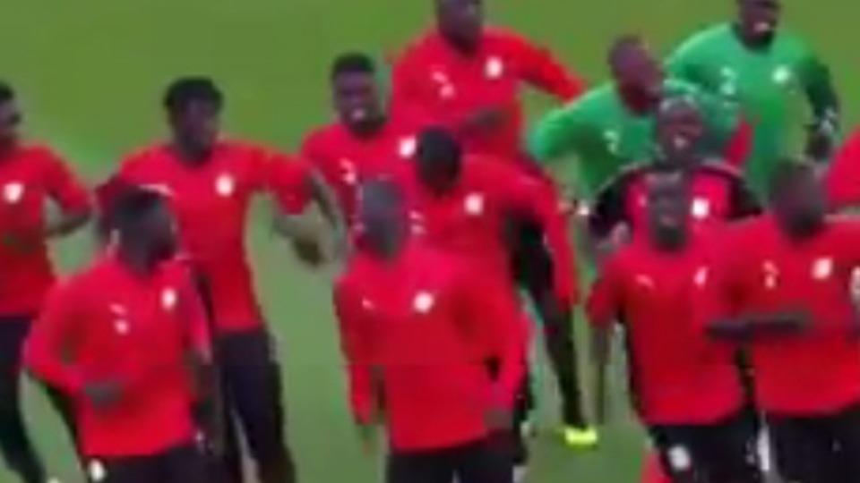 Video - Senegal Milli Takımı'ndan ilginç antrenman
