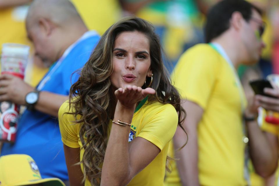 Brezilyalı model tribünleri salladı!