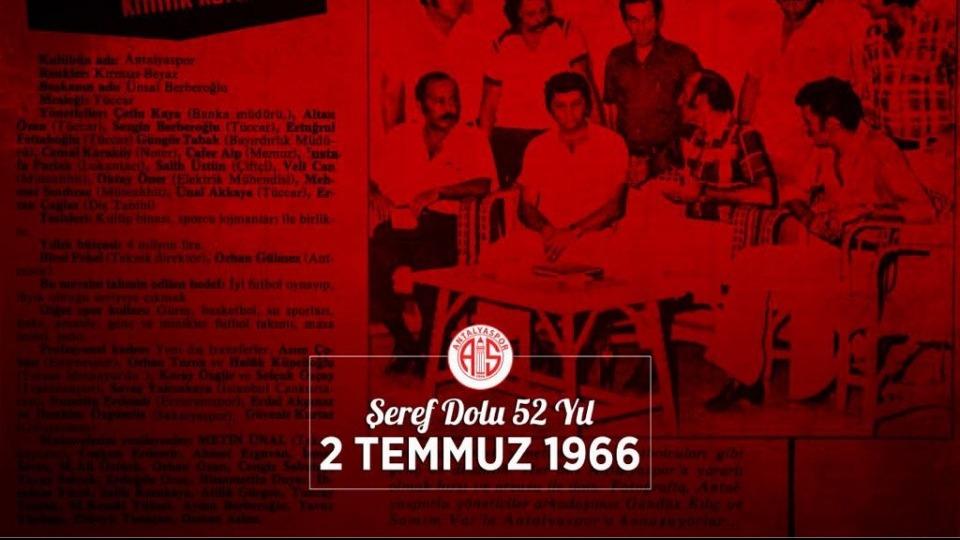 Antalyaspor'dan 52. yıl mesajı!