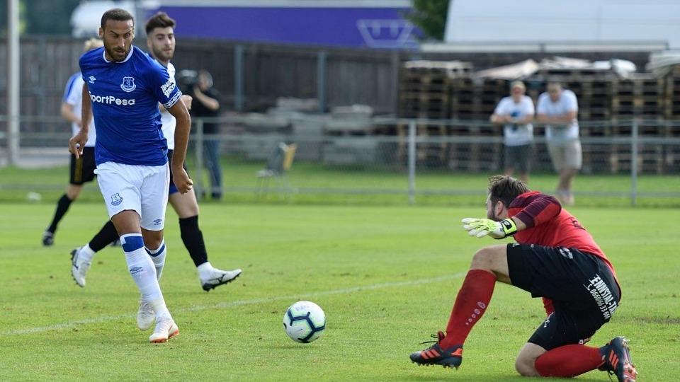 VİDEO - Hazırlık maçında Everton'dan tam 22 gol! Cenk Tosun...