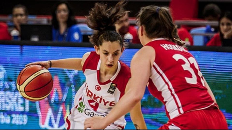 Basketbol 20 Yaş Altı Kadınlar Avrupa Şampiyonası'nda Türkiye, Ukrayna'yı 73-65 mağlup etti