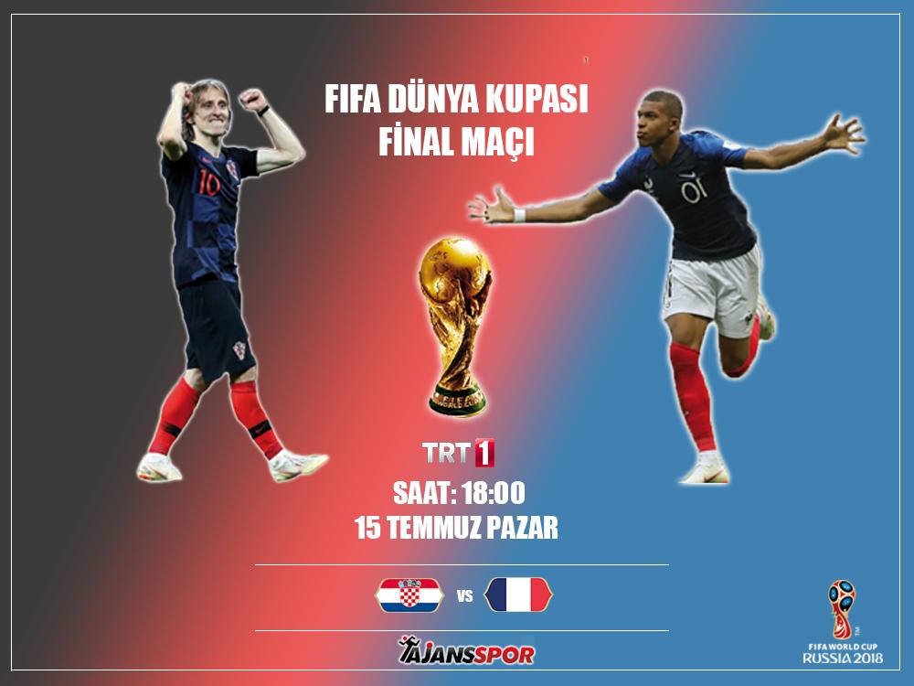 CANLI İZLE: Fransa - Hırvatistan