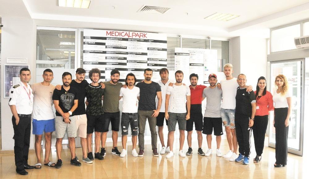 Tarsus İdman Yurdu'nda futbolcular sağlık kontrolünden geçti.