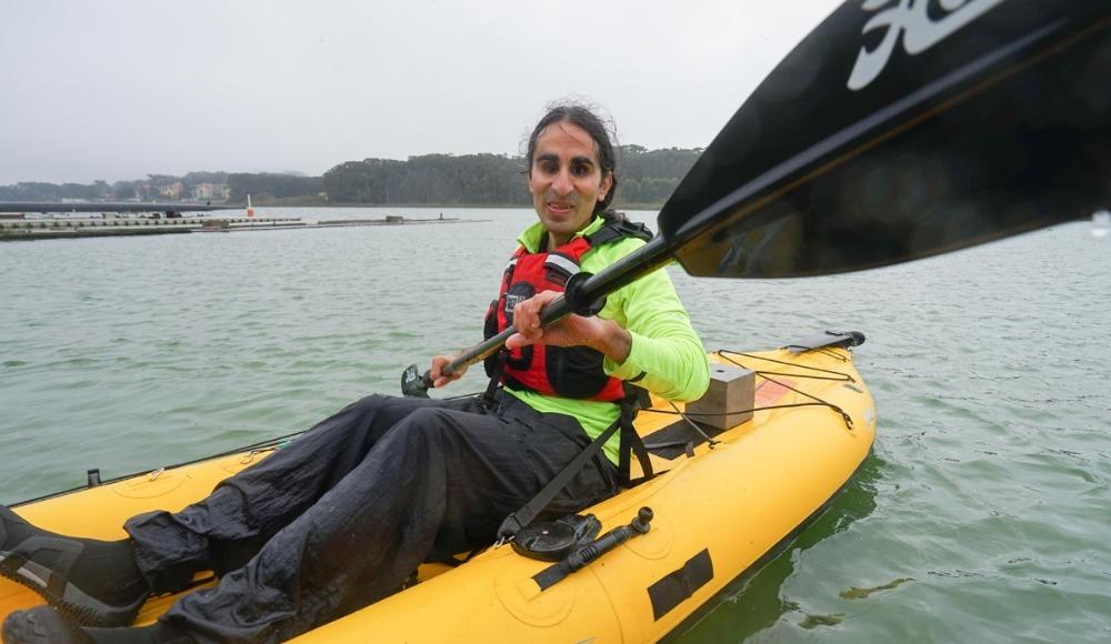 Görme engelli öğretmenden kanoyla kıtalar arası yolculuk