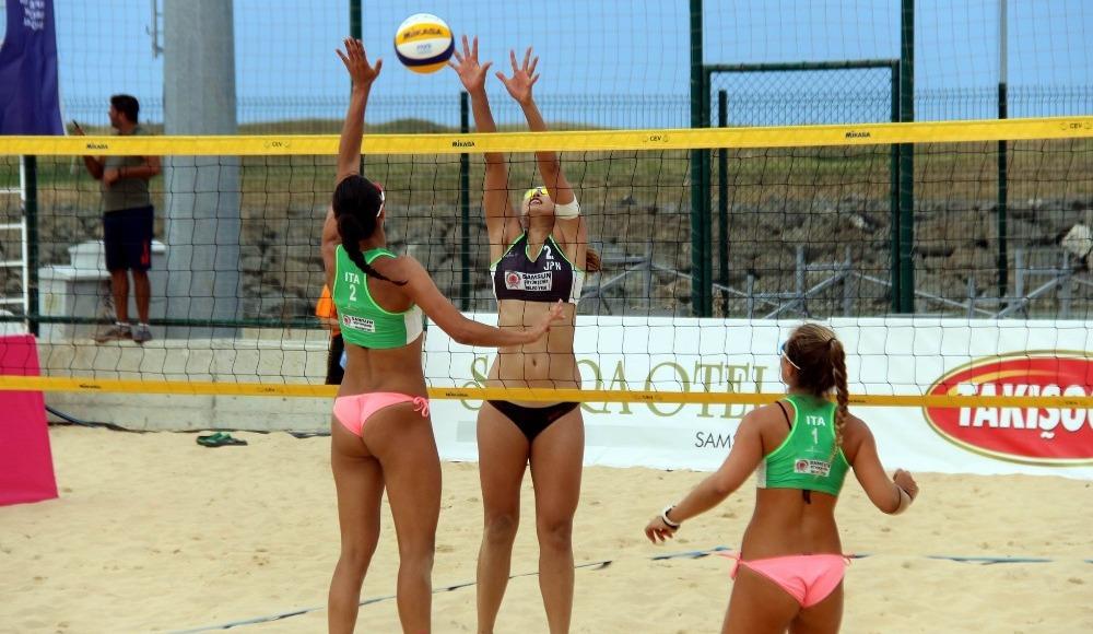 Plaj Voleybolu Dünya Turu Samsun'da başladı