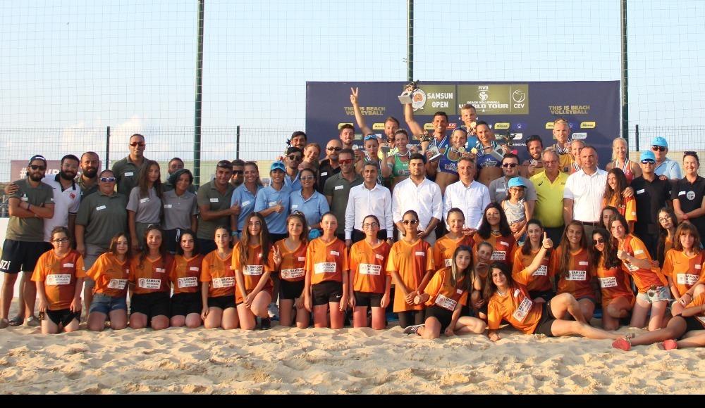 FIVB Plaj Voleybolu Dünya Turu'nun 1 yıldızlı Samsun etabı bitti...