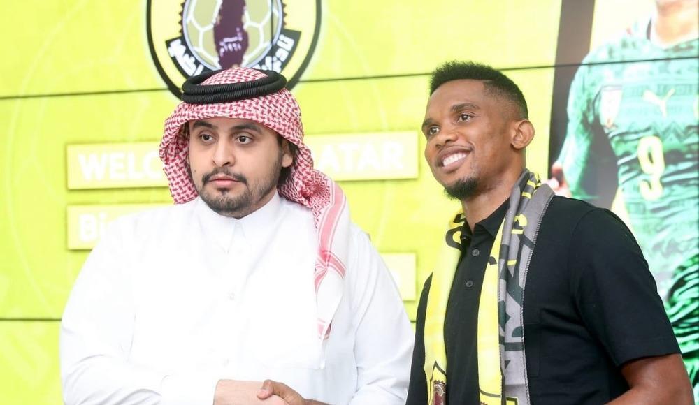 Samuel Eto'o, Qatar Sports kulübü ile resmi sözleşmeyi imzaladı