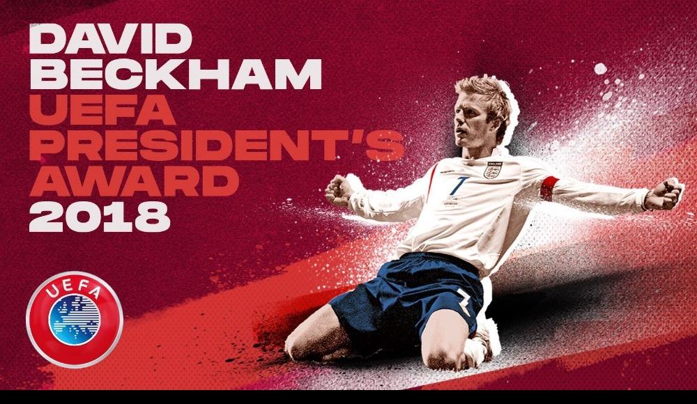 UEFA Başkanlık ödülünü Beckham kazandı
