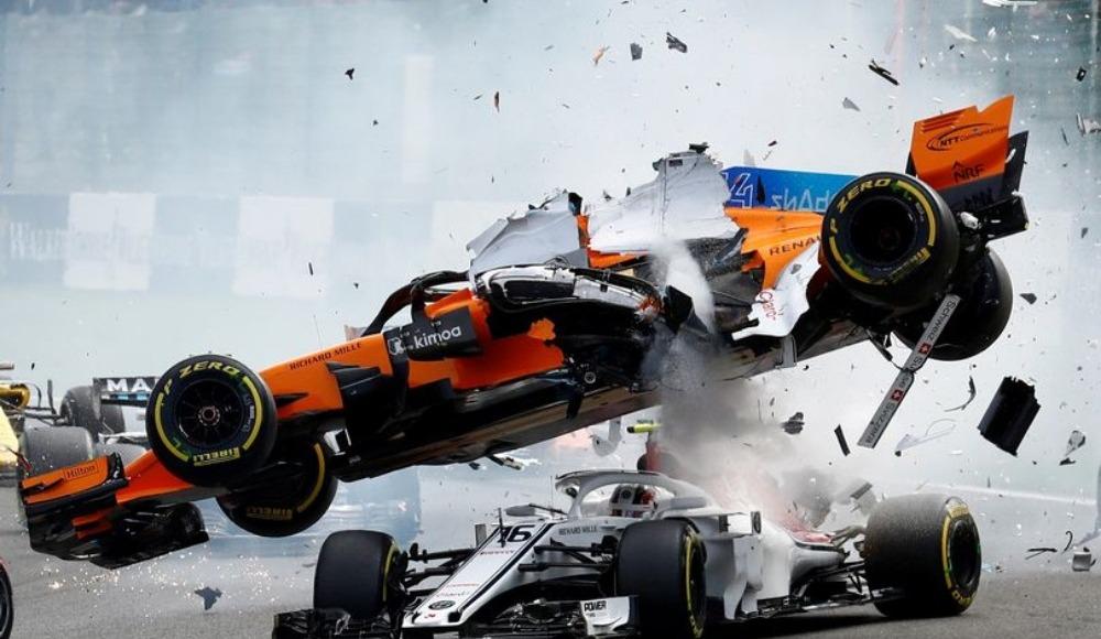 Fernando Alonso'dan korkutan kaza!