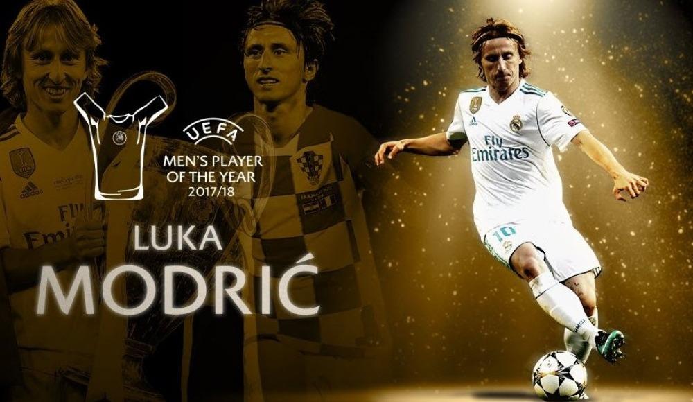 Luka Modric, UEFA Şampiyonlar Ligi'nde 2017-18 sezonunun en iyi oyuncusu seçildi!