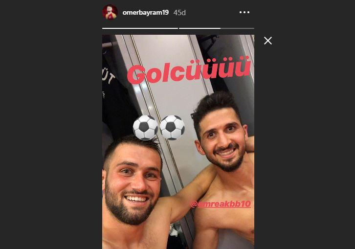 Ömer Bayram'ın maç sonu Emre Akbaba paylaşımı