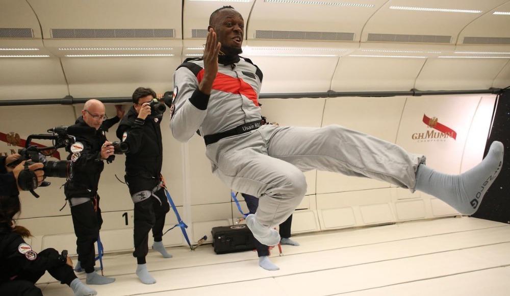 Video - Yer çekimi olmadan da en hızlısı Bolt!