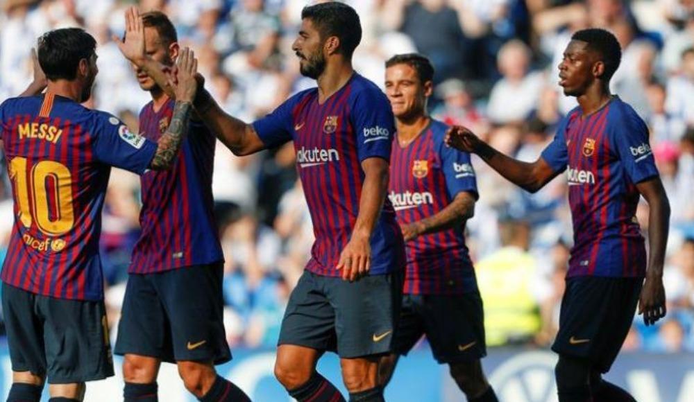 Barcelona, 3 dakikada Sociedad'ın fişini çekti