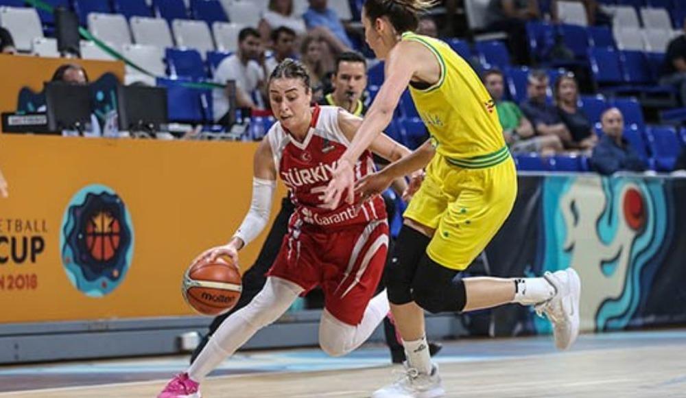A Milli Kadın Basketbol Takımı, Avustralya'ya 90-64 mağlup oldu