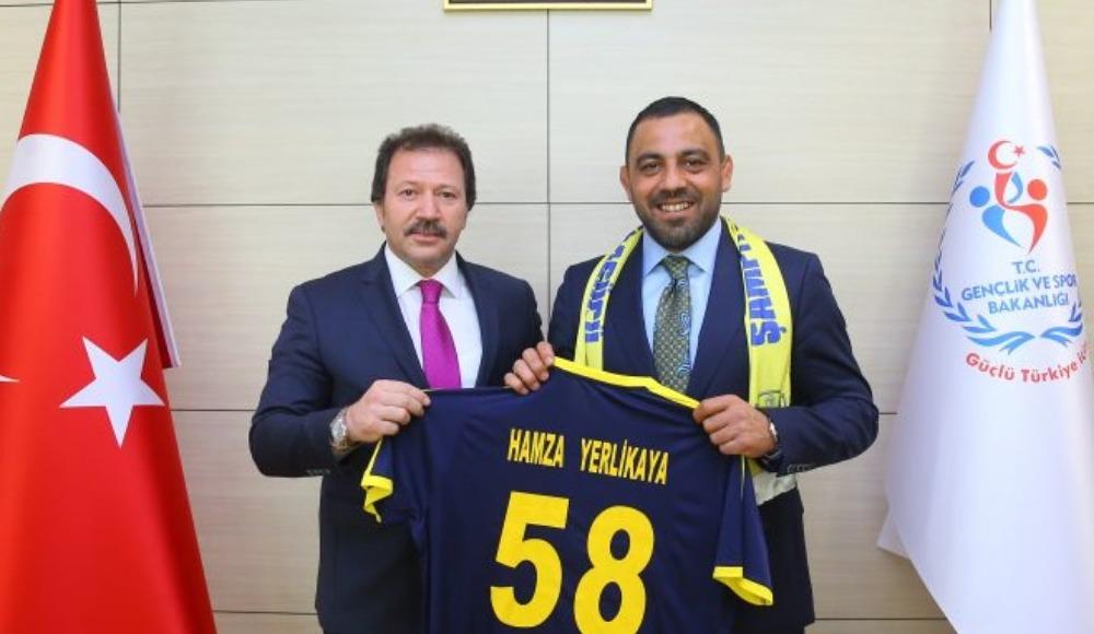 Hidayet Türkoğlu ve Mehmet Yiğiner, Hamza Yerlikaya'yı ziyaret etti