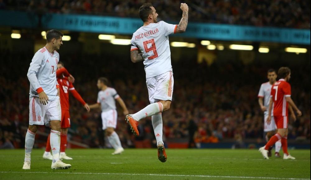 İspanya, Galler'e acımadı! Paco Alcacer gollere devam ediyor...
