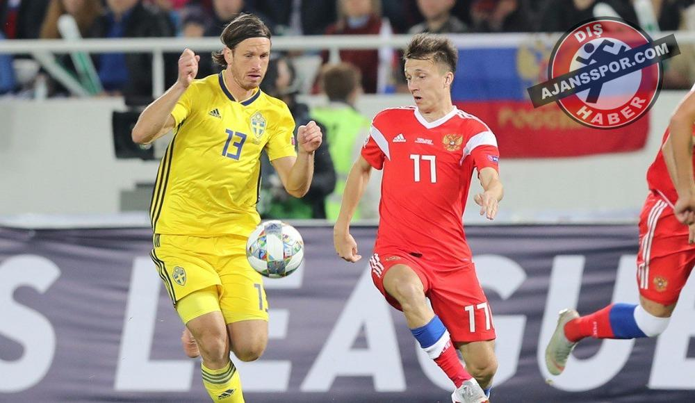 UEFA Uluslar Ligi B Grubu'nda Rusya-İsveç maçında gol sesi çıkmadı