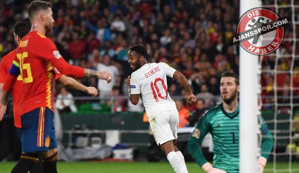 İngiltere, İspanya'yı ilk yarıda attığı gollerle mağlup etti