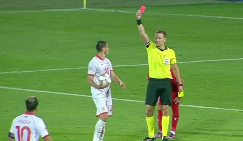 Eljif Elmas'ın kırmızı kart gördüğü maçta Makedonya, Ermenistan'a mağlup oldu