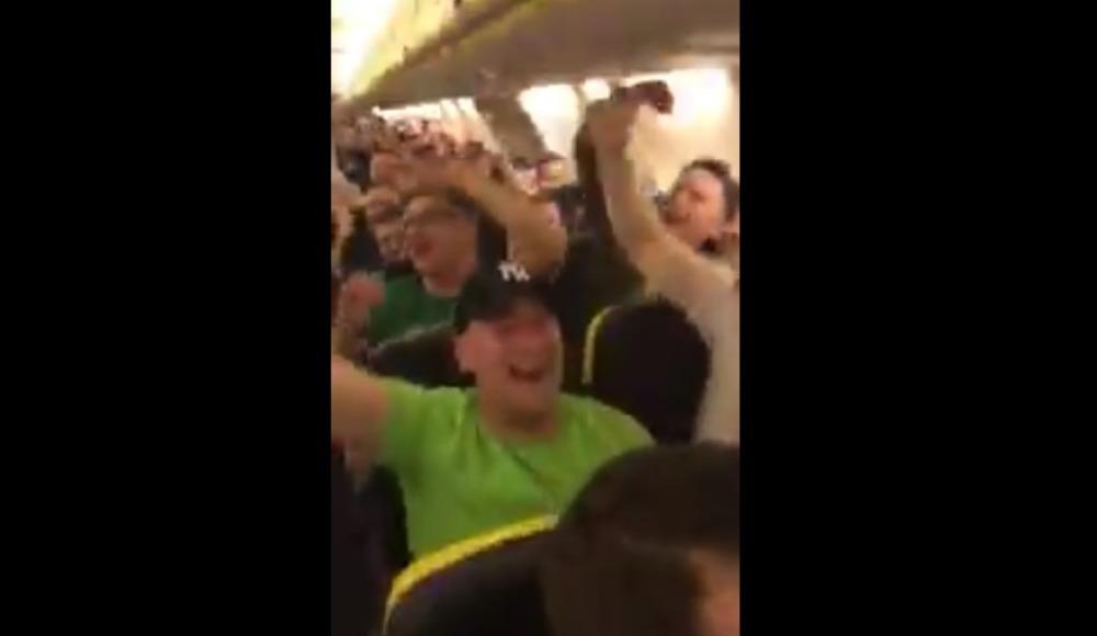 Video - Celtic taraftarından havada kutlama