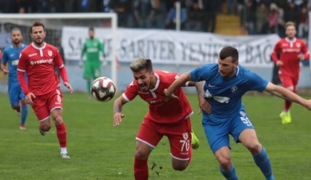 Sarıyer ile Yılport Samsunspor yenişemedi:1-1!