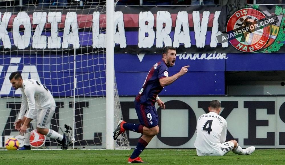Real Madrid'e bir darbe de Eibar'dan!