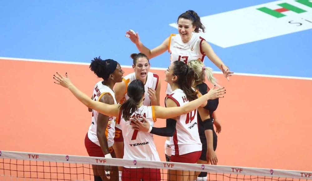 Galatasaray HDI Sigorta deplasmanda set vermeden kazandı