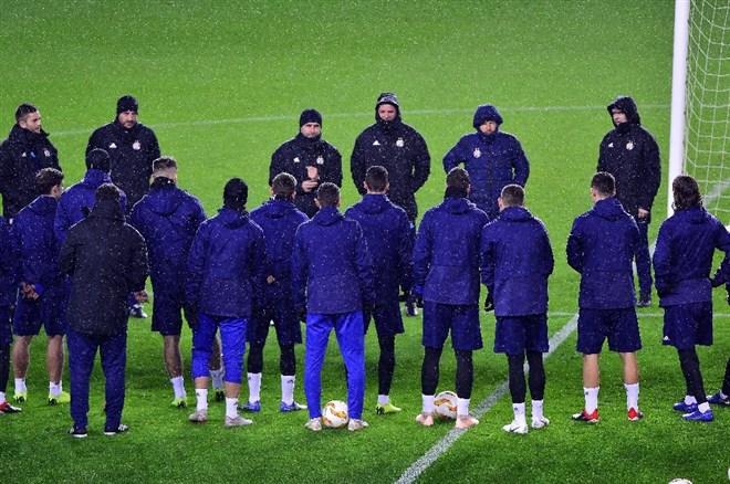 Dinamo Zagreb yağmur altında çalıştı