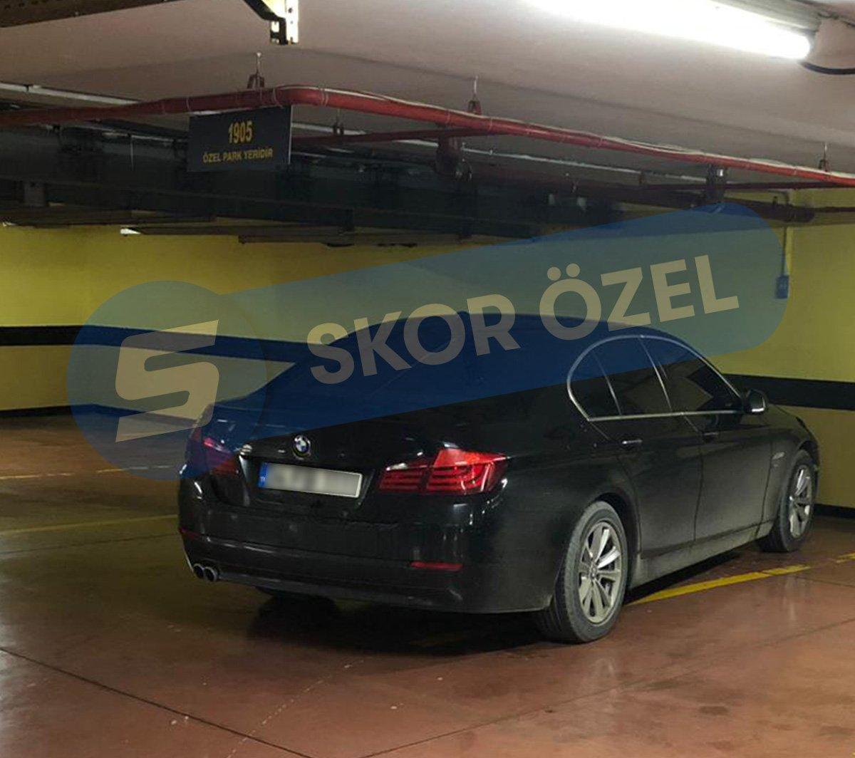 Semih Özsoy ve Ersun Yanal'ın araçları...