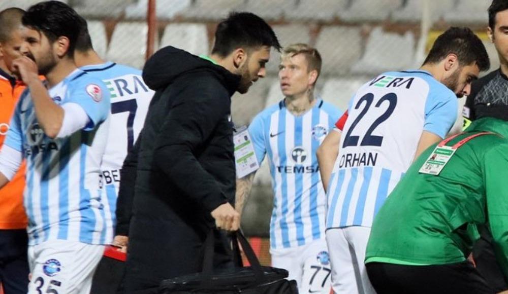 Adana'da sinirler gerildi, 2 oyuncu kırmızı kart gördü